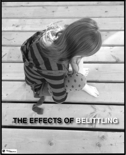 GRAPHIC THE EFFECTS OF BELITTLING B&W