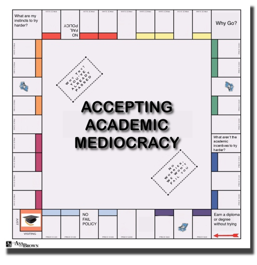 ACCEPTING ACADEMIC MEDIOCRACY